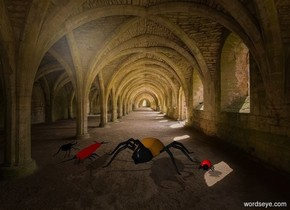 4 beetles are in the abbey.