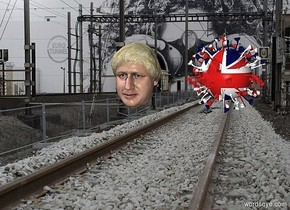 a [et] backdrop.a 11 inch tall covid19.the covid19 is 10 inch wide [country flag].a 10 inch tall boris head is 4 inch left of the covid19.