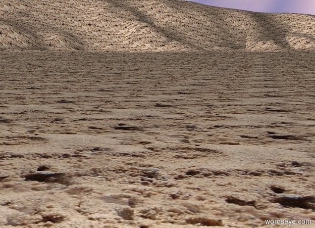 Input text: The ground is sand.