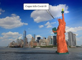 the copper statue of liberty is in New York.