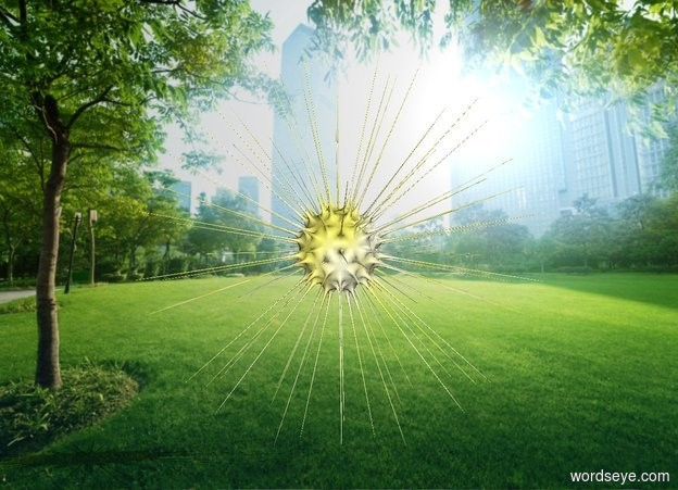 Input text: the sun symbol.