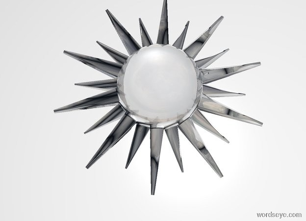 Input text: THE WHITE BACKDROP. Transparent sun symbol leans 90 degrees to the back.