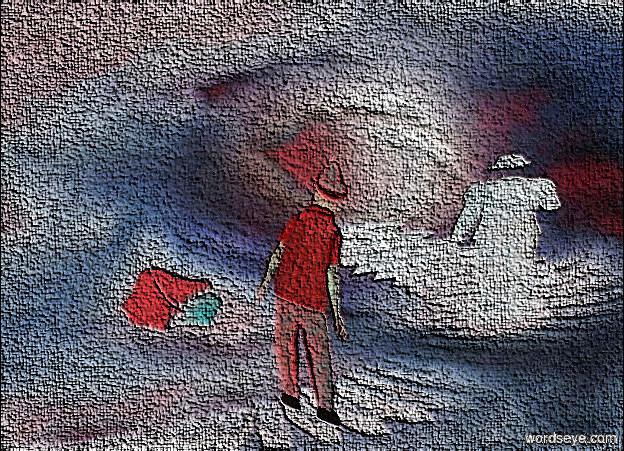 Input text: a [pf] backdrop.a 60 inch tall quartz pink flat man.