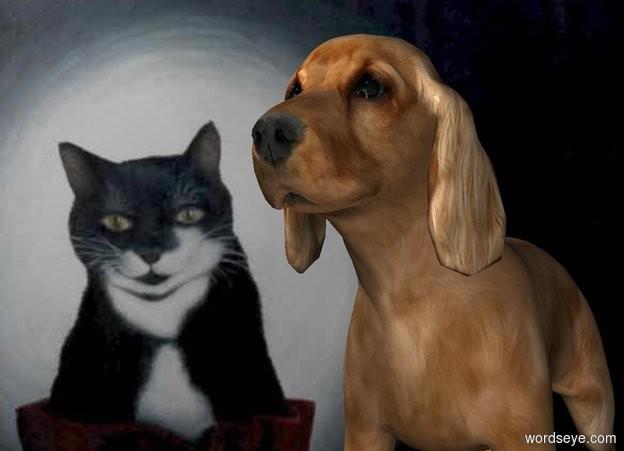 Input text: image-15642 backdrop. Dog.