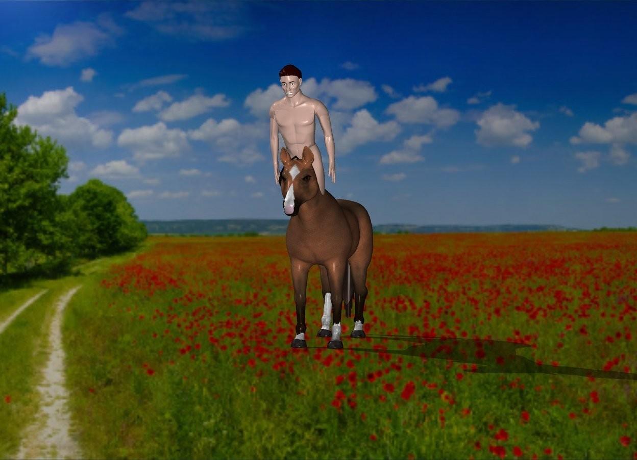 Input text: The centaur is 1 feet above sun