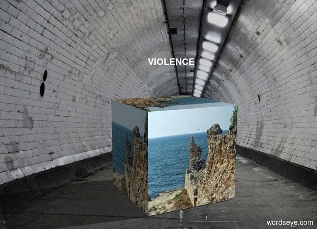 Input text: violence